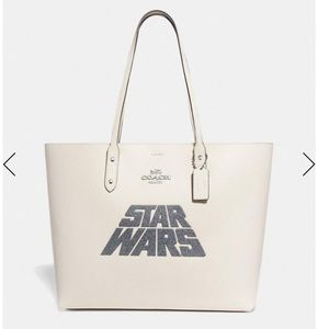 Star Wars X Coach Town Tote With Glitter Motif